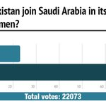 Poll results are in! Most of our voters are not in favour of Pakistan joining the offensive against Yemen. http://t.co/AKldKEUAdA