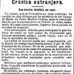 ¡La Torre Eiffel se cae! Este rumor sacudió las Campos de Marte en 1891, según La Época #HemerotecaBNE http://t.co/wN4qalmfZa