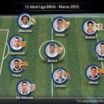 Vitolo e Iborra, en el once ideal de la Liga en el mes de marzo. #SevillaFC http://t.co/bhhK9H0Qrz