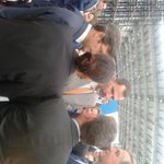 Damien Marantelli CEO @cobrelascruces saluda a @CasaReal en visita @FundPersan http://t.co/mByy8VWG2h