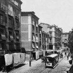 Tranvía, carruajes... ¡Qué cosas más raras veo hoy por la Calle Toledo! ¿Me acompañas? http://t.co/7RoIB6LAqU #madrid http://t.co/LUBcqLZ7jf