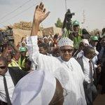 """""""@AJENews: Buhari ahead. http://t.co/gH9hxKdrmc http://t.co/bsU3GeUtpb"""" #Nigeriadecides"""