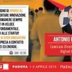 L #OpenInnovation proietta le imprese verso il mondo esterno @aperdichizzi a #Smau Padova http://t.co/kmdXZe6sTk http://t.co/BqvzpbAqaP