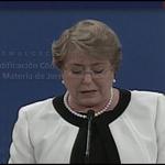 Según encuesta Cadem la desaprobación de Bachelet alcanzó un 57% http://t.co/635VaDF1kj #CNNChile http://t.co/aL1iXk3DfC