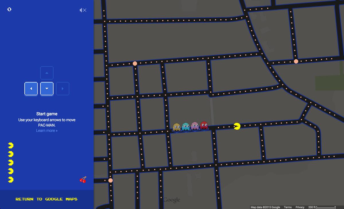 PAC-MAN in Google Maps https://t.co/K1KAPN1arH http://t.co/rplncX2F0l