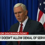 "Pence: Indiana #RFRA didnt give license to discriminate, but thats become perception, ""and we need to confront it."" http://t.co/FiHnS2x3oY"