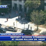 #BREAKING: According to Police, student injured at Miami Killian Sr. High School and transported to the hospital. http://t.co/vSIl3bpDhP
