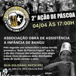 É sábado! 2ª Ação de Páscoa Fogoró. Participem e divulguem. Faça a páscoa de uma criança carente mais feliz ! http://t.co/63yd1a5CkZ