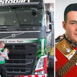 #EddieStobart lorry named after Fusilier Lee Rigby http://t.co/wQ9DJkETcg http://t.co/gk6ipdnVJb