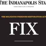 The largest newspaper in Indiana just made one hell of a statement http://t.co/iZbrKPxxUt http://t.co/ezPxSk4dWW