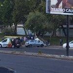 AHORA: Vehículo volcado en Vicuña Mackenna a la altura de metro Ñuble. http://t.co/I0NLt59iCl