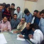 PTI Karachi leadership has requested the DC officer to hold Karachi Jalasa at Jinnah ground. http://t.co/NsoZmILci0