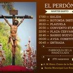 #MartesSanto: La Hdad. del Perdón hace estación de penitencia al Convento de Santa Clara en #AlcaládeGuadaíra http://t.co/5lwWK4cEZh