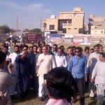 Right now: PTI Karachi leadership visiting Jinnah Ground to finalize the Jalasa venue. http://t.co/koP6jg1hLP