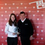 Congrats to Katie Bradbury (Exeter) for winning this weeks tour event @SandAGolfClub. Here with S & A Club President http://t.co/2gBvIjeceP