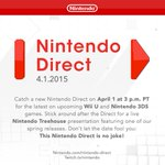 Catch a #NintendoDirectNA about #WiiU & #3DS games on 4/1 at 3 p.m. PT. Don't let the date fool you: This is no joke! http://t.co/alsJ5Ty5b0