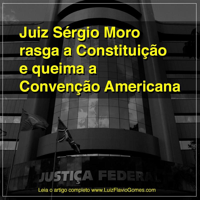 O juiz Sérgio Moro e Antônio César Bochenek acabam de rasgar publicamente a Constituição... http://t.co/DoPurAzpet http://t.co/AJZDAYyWFr