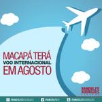 Macapá terá voo internacional em agosto. Leia mais: http://t.co/5IOpKgLlNj http://t.co/Xg4JFpIgXt