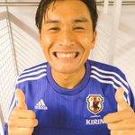 青ちゃんスーパーゴールからのスーパー笑顔! http://t.co/xGXtv75XiJ http://t.co/o13YQiaeIr