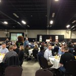 Just getting underway at the 12th Annual Kings & Queens Scholarship Breakfast with Clint Malarchuk! http://t.co/TjxBQTq0dN