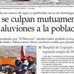 Es una vergüenza que el gobierno no asuma su responsabilidad por el mal manejo del desastre de Atacama. #MásDeLoMismo http://t.co/KF7KzmjHJq
