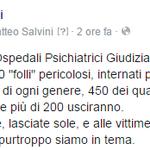 Chiudono Ospedali Psichiatrici Giudiziari. Scelta folle, e purtroppo siamo in tema! #Salvini #Lega @matteosalvinimi http://t.co/5HeynpcT8R