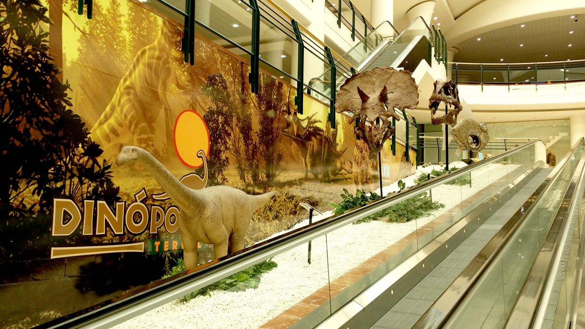 GRRRR!!! Los #dinosaurios de #Dinópolis conquistan el Centro Comercial @la_morea #Navarra http://t.co/ZWXvKPjanM http://t.co/pdaRb0pZeO
