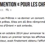 """.@GroupeRATP refuse """"Pr les Chrétiens dOrient""""mais pas le voile islamiste http://t.co/aqOvLSe8Y7 RT @abbegrosjean:  http://t.co/Qsa0FAGZOj"""