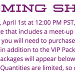 VIP upgrades for the http://t.co/AmI8ZTiqhE are available TOMORROW for people who have already bought their tickets! http://t.co/aKFZIKdxIf