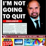 Billy Gordon tells his local paper hes staying #9News #qldpol http://t.co/NUYBENvdbx