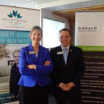 Great day 4 #reddeer as @reddeercollege & @mountroyal4u announce expanded degree options 4 Donald School of Business. http://t.co/BBgg8m2DjT