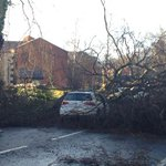 High winds continue to hit Greater Manchester. Heres the scene on Bury Old Road, Prestwich, earlier today. http://t.co/5UhpOWmy8g