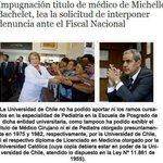 """#BacheletMiente y su titulo de """"medico""""...terminara en tribunales??? http://t.co/7GPSB64ejY"""