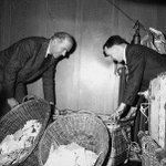Matt Busby helps sort the mail at Old Trafford. #MUFC http://t.co/PEd6aMiRRF
