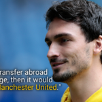 Good news for #MUFC fans. Mats Hummels has said that he would only ever leave Dortmund for Man Utd. http://t.co/2Uoj6wzSRr