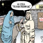New cartoon: Religious freedom law #RFRA @GovPenceIN @HRC http://t.co/I71cPAEkyc