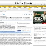 Indignación en las #RedesSociales X postura del Cardenal rechazando la reelección cuando antes la favorecía.@rcavada http://t.co/UVQ3p6sdV6