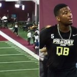 VIDEO: A Jameis Winston throw at his Pro Day leads to his WR crashing into the ESPN set http://t.co/6WVY5ESLt4 http://t.co/x7zx98BrJi