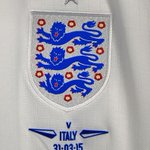 PHOTO: The @England crest on tonights match shirt. #ITAvENG http://t.co/uHebqrsuTL