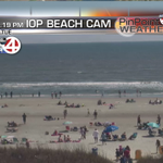 WOW, it looks like summer on the Isle of Palms w/ all those beach goers! #chswx #scwx #springbreak http://t.co/bWQQ99em0K