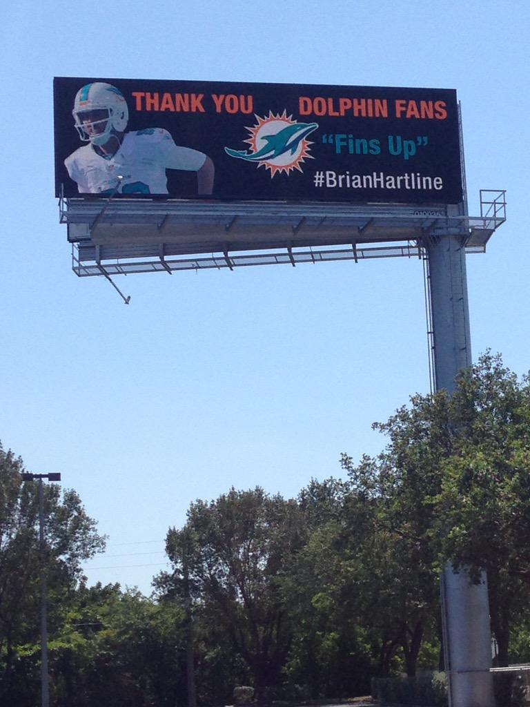 So it took a little longer then expected but I wanted to thank as many Dolphins Fans as possible. So Thank You! http://t.co/GWNtnEXYbZ