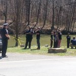 Police talking with kids who reportedly found body in #CorbyPond. #StJoMo http://t.co/n54WaUPCiR