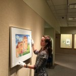 Hanging artwork for #LNK public schools exhibition today, open soon in lower-level gallery #UNLMuseums http://t.co/or5Cim7nRq