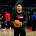 THIS JUST IN: Derrick Rose plays in full contact 5-on-5 scrimmage for 1st time since having surgery on right knee. http://t.co/wLEPcPiq74