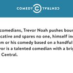 .@ComedyCentral stands with @Trevornoah. http://t.co/UnL4DZFjee