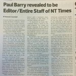 Damn! Unmasked! RT @evanmtn: @TheRealPBarry @ABCmediawatch made it into the #PROSH this year #mediawatch http://t.co/nLNPahxg2e