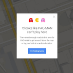 Surprise! Pac-man is munching on away on Google Maps http://t.co/3nzqRzHR32 http://t.co/mX2v6OkppU