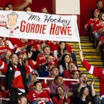"""FIRST LOOK: Fans give Mr. Hockey a standing-o as Gordie shares a video message with the crowd. """"Thank you Detroit."""" http://t.co/wlSIa7l9mM"""
