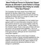 """Bullets and bongs are natural bedfellows"" Good work from the Sex Party + Shooters & Fishers #springst #AprilFools http://t.co/MViF6Hk6ug"