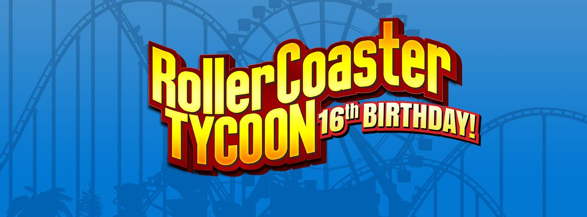Today is RollerCoaster Tycoon's 16th birthday! The first game was released in North America on March 31, 1999! http://t.co/drpNZN3ao3